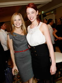 Sarah Jane Morris and Rachel Nichols at the Diamond Information Center and InStyle Diamond Fashion Show Preview Luncheon.