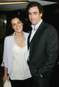 Stephen Mangan and Guest at the screening of