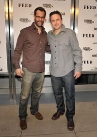 Josh Stamberg and David Arquette at the FEED Foundation/Hungry In America project benefit hosted by Vanity Fair.