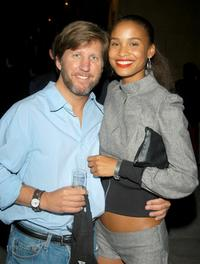 Robert Peters and Actress Joy Bryant at the after party of the Los Angeles premiere of