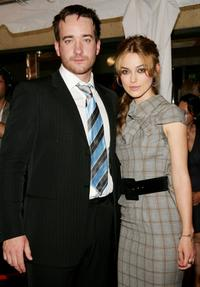 Matthew MacFadyen and Keira Knightley at the gala premiere of