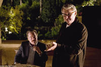 Philip Seymour Hoffman and director Mike Nichols on the set of
