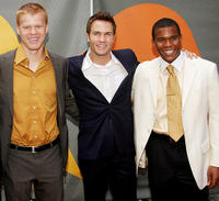 Jesse Plemons, Scott Porter and Gaius Charles at the NBC Upfronts in New York.