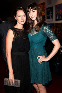 Amy Acker and Jillian Morgese at the premiere of
