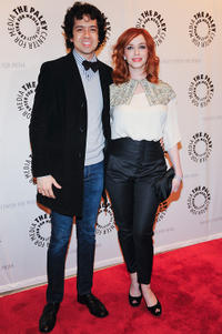 Geoffrey Arend and Christina Hendricks at the New York premiere of