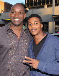Producer Broderick Johnson and Cory C. Hardrict at the California premiere of
