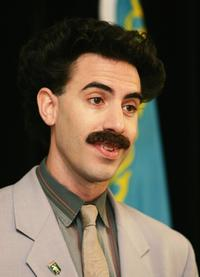 Sacha Baron Cohen at a press conference for