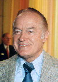 Portrait of the American singer, comedian, and humorist Bob Hope.