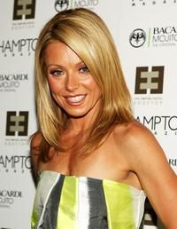Kelly Ripa at the party to celebrate the Hamptons magazine cover.