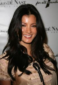 Kelly Hu at the 7 For All Mankind first retail store opening.