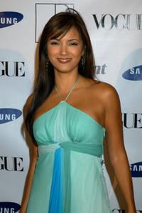 Kelly Hu at the launch party to celebrate Diane von Furstenberg's limited edition designer mobile phone.