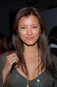 Kelly Hu at the party for Laura Meyer and Robyn Roth's new book