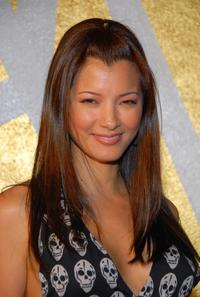 Kelly Hu at the opening of the Napoleon Perdis Hollywood Flagship Store and Makeup Academy.