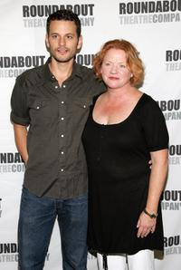 Wayne Wilcox and Becky Ann Baker at the rehearsal of