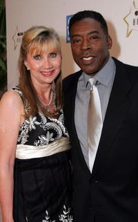 Ernie Hudson and his wife Linda arrive to the celebration honoring Geena Davis as this year's Hollywood Hero by USA Today.