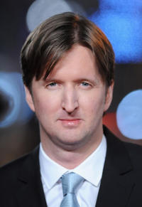 Director Tom Hooper at the world premiere of