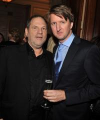 Harvey Weinstein and Tom Hooper at the luncheon to honor