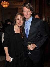 Jennifer Ehle and Tom Hooper at the luncheon to honor
