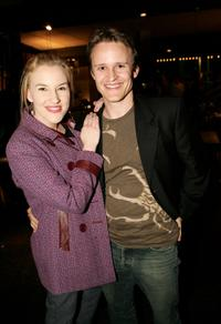 Kate Mulvany and Damon Herriman at the after party of the opening night of