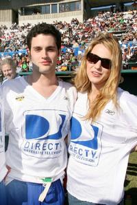 Penn Badgley and Blake Lively at the DIRECTV's 3rd Annual Celebrity Beach Bowl.