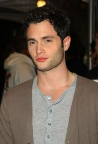 Penn Badgley at the opening party for Juicy Couture's 5th Avenue flagship store.