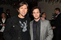 Director Nelson McCormick and Penn Badgley at the after party of the New York premiere of