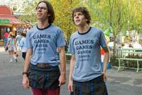 Martin Starr and Jesse Eisenberg in