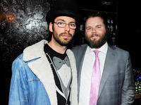 Martin Starr and Tyler Labine at the Tribeca Film Festival after-party for