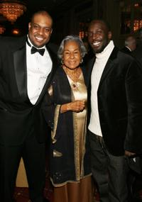 Jesse Simms, Rachel Robinson and Michael Kenneth Williams at the 35th Anniversary of the Jackie Robinson Foundation.
