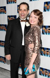 Tony Shalhoub and Mary Catherine Garrison at the opening night of