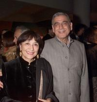 Madhur Jaffrey and director Ismail Merchant at the Festival of India Diaspora.