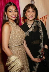 Madhur Jaffrey and Ayesha Dharker at the