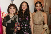 Madhur Jaffrey, Anisha Nagarajan and Ayesha Dharker at the