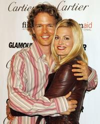 Director Greg Coolidge and his wife Brooke D'Orsay at the Glamour Reel Moments.