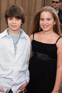 Alexander Gould and Ali Grant at the premiere of