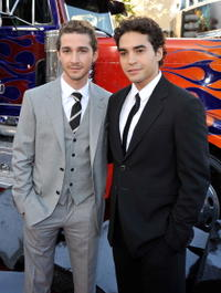 Shia LaBeouf and Ramon Rodriguez at the premiere of