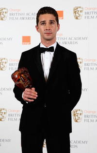 Shia LaBeouf at the Orange British Academy Film Awards.
