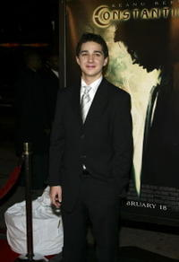 Shia LaBeouf at the Hollywood premiere of