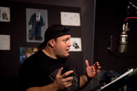 Kevin James on the set of