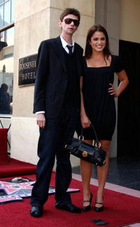 DJ Qualls and Nikki Reed at the Hollywood Walk of Fame.