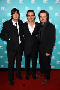 Toby Schmitz, Ewen Leslie and Matthew Newton at the Australian premiere of