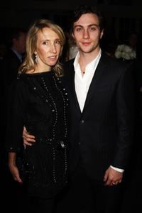Sam Taylor Wood and Aaron Johnson at the London premiere of