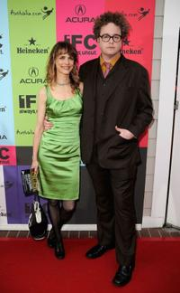 Lynn Shelton and Grant Lee Phillips at the 24th Annual Film Independent's Spirit Awards celebration.