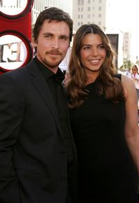 Christian Bale and his wife Sibi Blazic at the premiere of