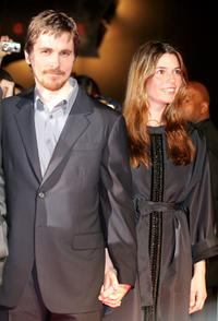 Christian Bale and his wife Sibi Blazic at the Japan premiere of