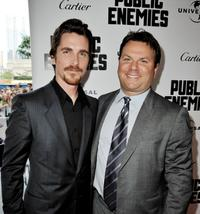 Christian Bale and producer Kevin Misher at the Illinois premiere of