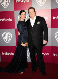 Katherine Tokarz and Eric Stonestreet at the 2011 InStyle And Warner Bros. 68th Annual Golden Globe Awards post-party.