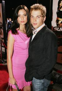 Mike Vogel and his wife Courtney at the premiere of