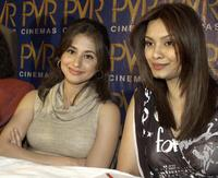 Urmila Matondkar and Diana Hayden at the press conference of