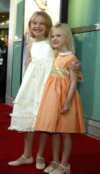 Dakota and Elle Fanning at the premiere of